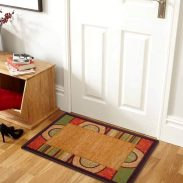 Pepperfry : Abstract Pattern Brown Bogo 23 x 15 inches Door Mat by Status
