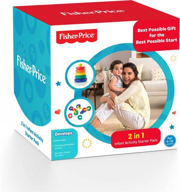 Flipkart : Fisher-Price 2 IN 1 Infant Activity Starter Pack For Growing Kids  (Multicolor)#JustHere