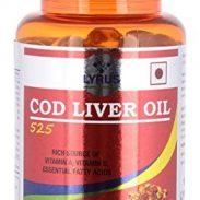Amazon India : Lyrus Cod Liver Oil 525-90 Softgels