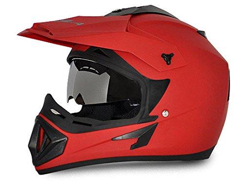 Amazon India : Vega Off Road OR-D/V-DR_M Full Face Motocross Helmet (Dull Red, M)