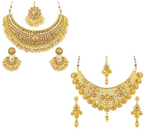 Amazon India : Sukkhi Jewellery Set for Women (Golden)