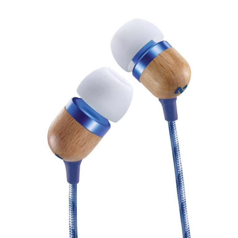 Amazon India : House of Marley Smile Jamaica EM-JE041-DN in-Ear Headphones with Mic (Blue)