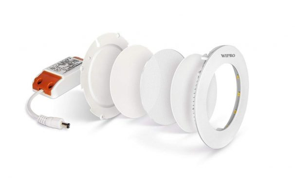Amazon India : Wipro Garnet Slim 12-Watt Round Panel (Cool Day Light)