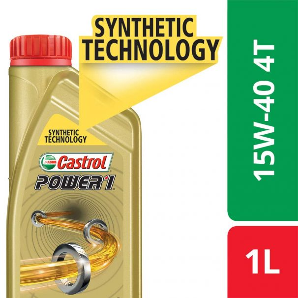 Amazon India : Castrol POWER1 4T 15W-40 Synthetic Engine Oil for Bikes (1L)