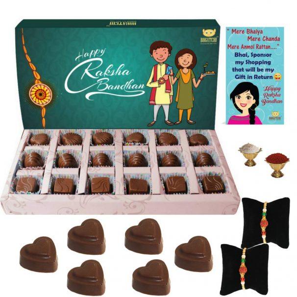 Amazon India : Bogatchi Rakhi for Brother with Chocolates, 180g