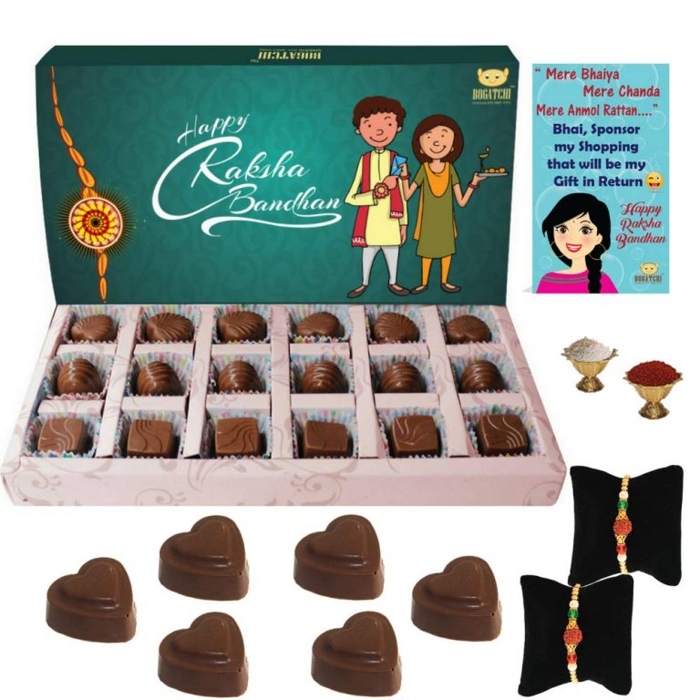 Amazon India : Bogatchi Rakhi for Brother with Chocolates, 180g