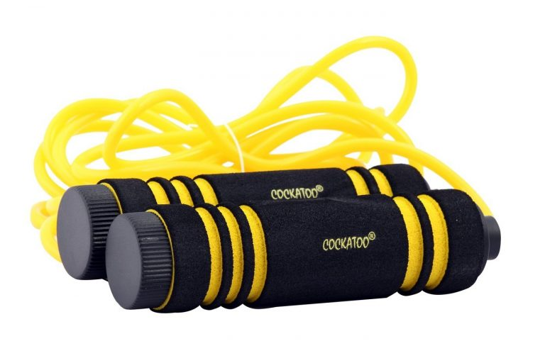 Amazon India : Cockatoo SKP-TP Skipping Rope, Senior Standard (Yellow)