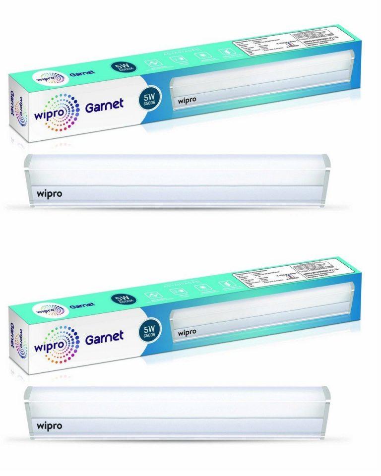 Amazon India : Wipro Garnet 5-Watt LED Batten (Pack of 2, Cool Day Light)