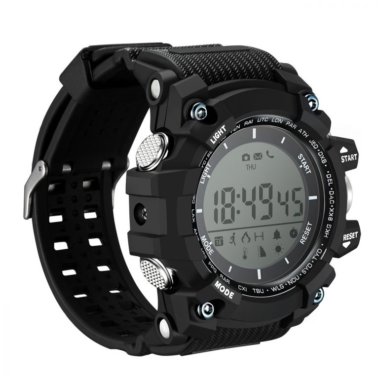 Amazon India : Mpow Digital Watch Smart Fitness Tracker IP68 Waterproof Call SMS Notification with LED Backlight for Android iOS with Gift Box, 1 Year Standby