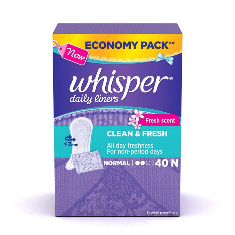 Amazon India : Whisper Clean and Fresh Daily Liners - 40 Count