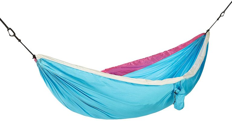 Amazon India : AmazonBasics Lightweight Double Camping Hammock, Sky Blue/White