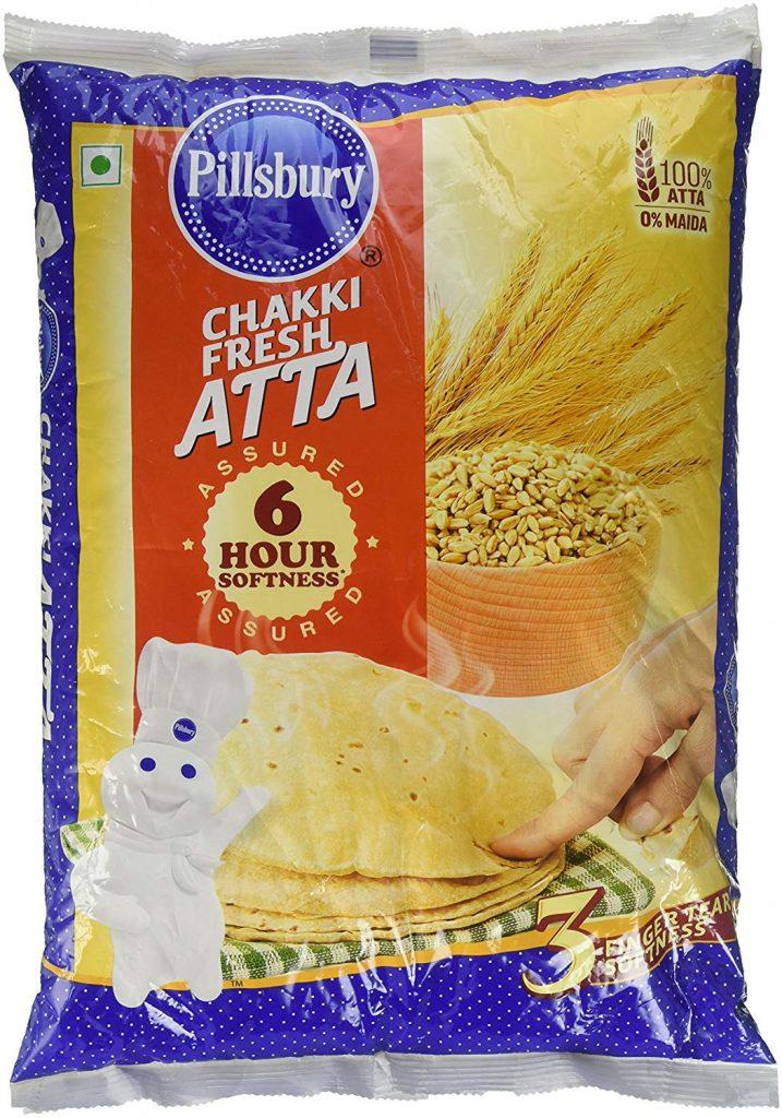 Amazon India : Pillsbury Chakki Fresh Atta, 5kg (with 500g Free)