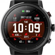 Flipkart : Huami Amazfit Stratos Black Smartwatch (Black Strap Free Size)