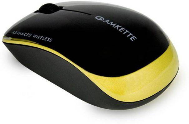 Flipkart  : Amkette Element Wireless Optical Mouse  (USB, Gold)
