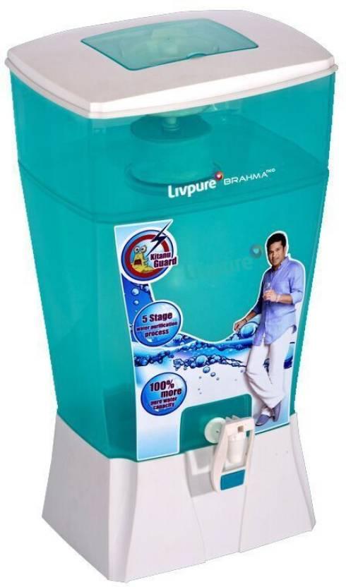 Flipkart : Livpure Brahma Neo 24 L Gravity Based Water Purifier  (White, Sea Green)#JustHere