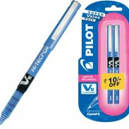 Amazon India : Pilot V5 Pen (Pack of 2 )Blue Roller Ball Pen  (Pack of 2)