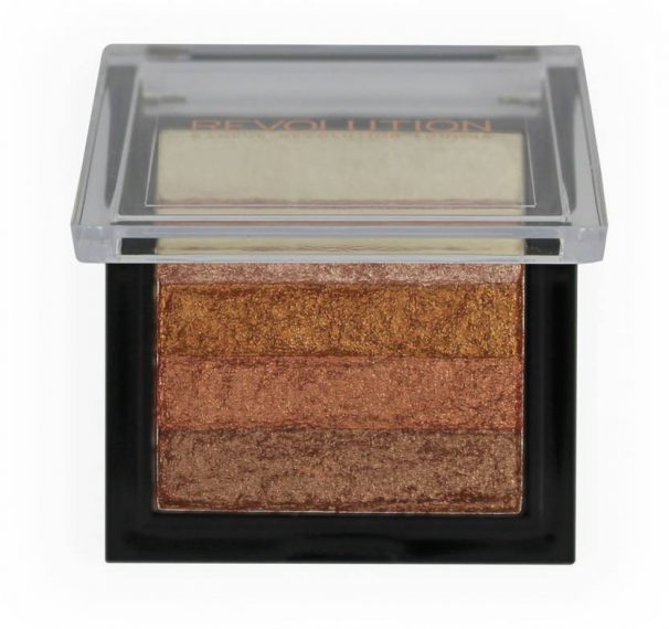 Flipkart : Makeup Revolution VIVID SHIMMER BRICK  (ROSE GOLD)