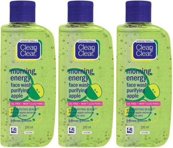 Flipkart : Clean & Clear Morning Energy Apple Facewash Face Wash  (300 ml)