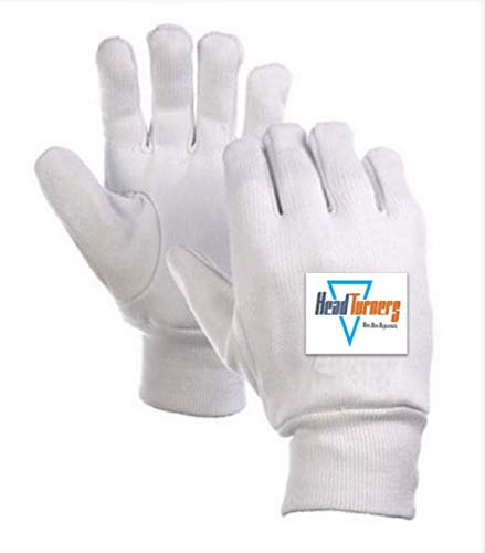 Amazon India : Head Turners Cricket Wicket Keeping Inners Padded Gloves (White)