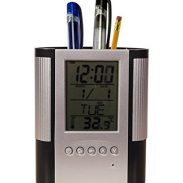 Amazon India : Tuelip Plastic Pen Holder with Digital Clock, White