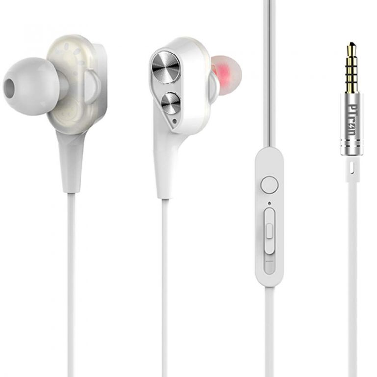 Amazon India : PTron Boom 2 4D Earphone Deep Bass Stereo Sport Wired Headphone with 3.5mm Jack for All Smartphones (White/Silver)