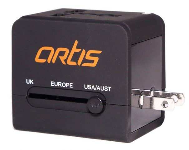 Amazon India : Artis UV200 Universal Travel Adapter/Converter/Charger with 2.1A USB Port (Black)