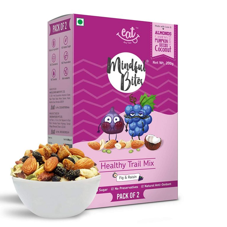 Amazon India : EAT Anytime Healthy Trail Mix, Fig and Raisin, 200g (Pack of 2)