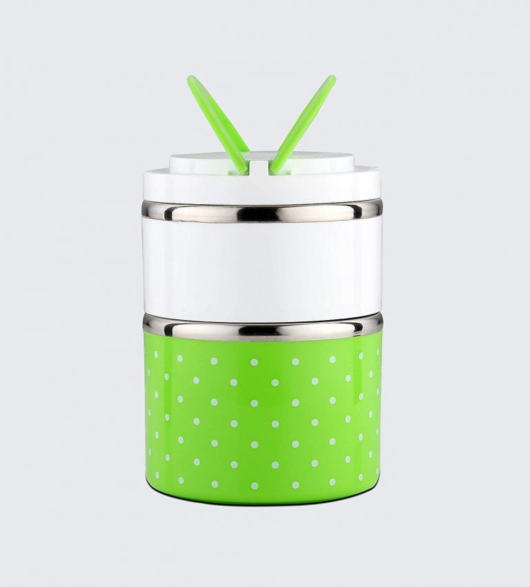 Amazon India : SignoraWare Easy Mate Stainless Steel 2 Tier Lunch Box, Green