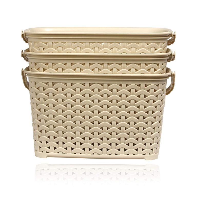 Amazon India : BMS Lifestyle 3 Piece Plastic Basket, 3.8 Liters, Ivory (BMSAMYA43)