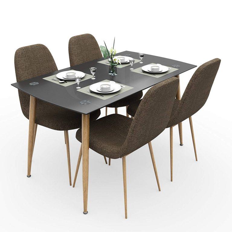 Amazon India : Forzza Logan Four Seater Dining Table Set (Beige)