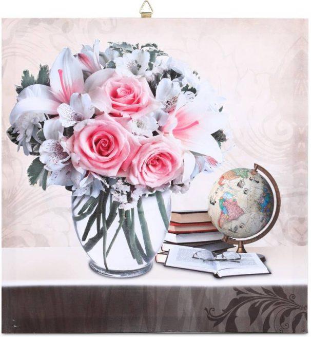 Flipkart : SkyWalls Wooden Framed Beautiful Flower Printed Ready to Hang Canvas 30 cm x 30 cm Painting