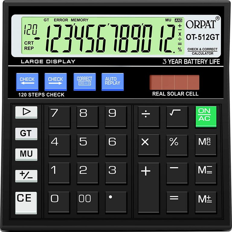 Amazon India : Orpat OT-512GT Calculator (Black)