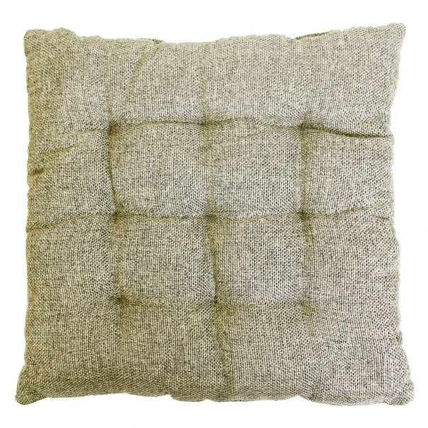 """Amazon India : Story@Home Square Jute Chair Pad - 14""""x14"""", Grey"""