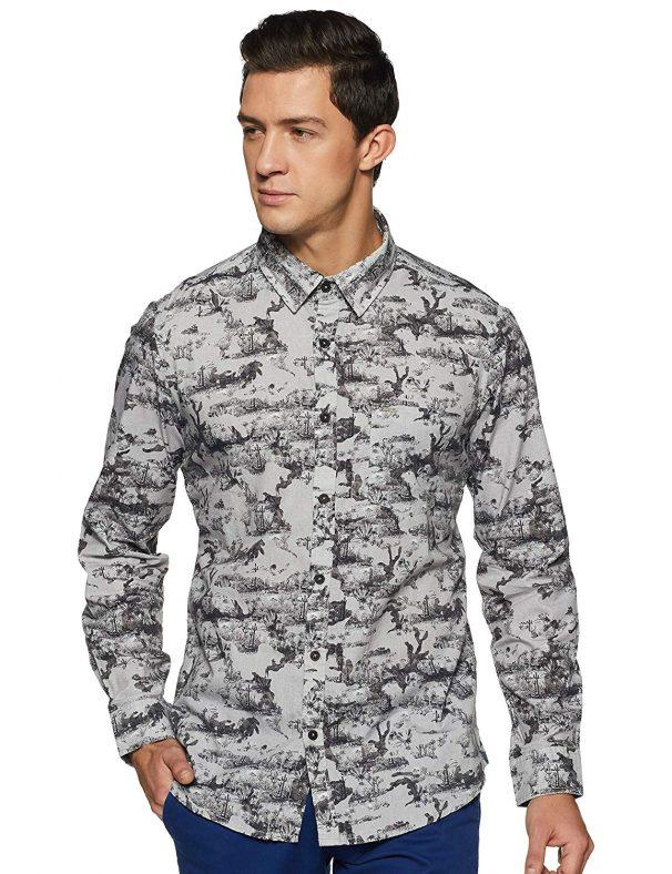 Amazon India : LEE COPPER Men's Printed Regular Fit Casual Shirt