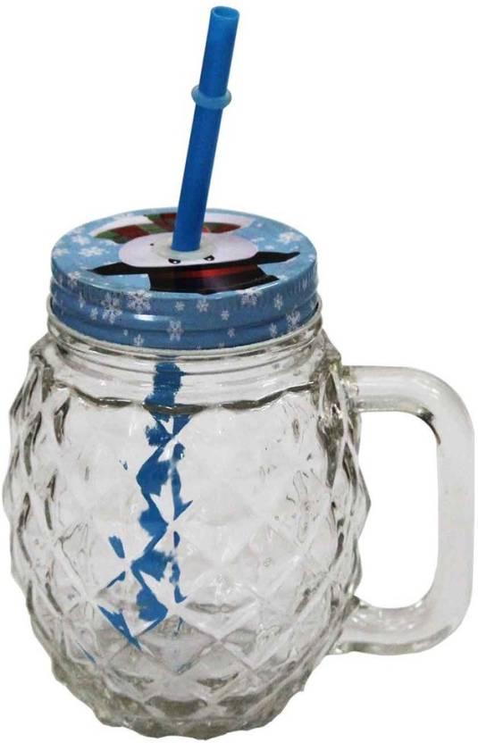 Flipkart : Craft Junction Mason Jar Glass - 450 L Glass Tea Coffee & Sugar Container  (Multicolor)