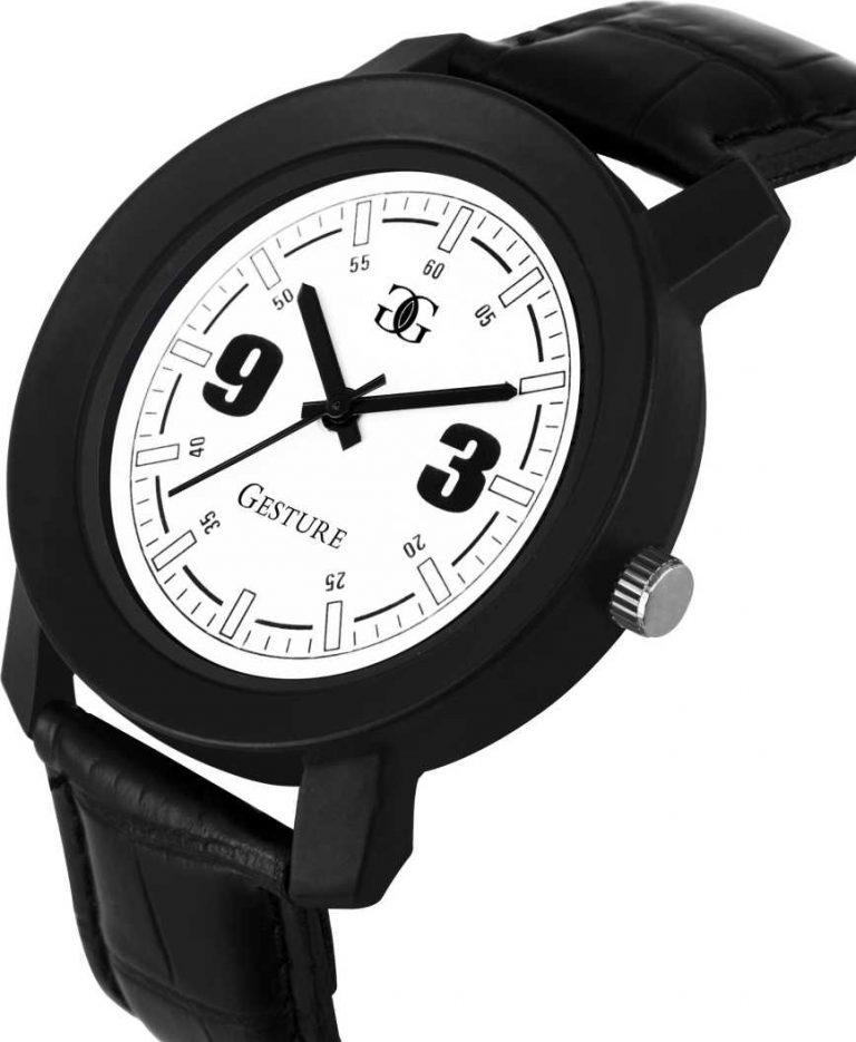 Flipkart : White Stylish Analog Watch - For Men