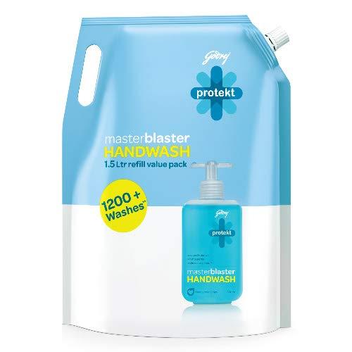 Amazon India : Godrej Protekt Masterblaster Handwash Refill - 1500 ml
