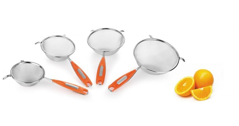 Amazon India : Classic Essentials Stainless Steel Juice Strainer Set, Set of 4, Silver