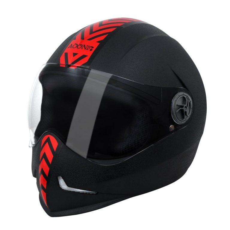 Amazon India : Steelbird 173609 Adonis Dashing Full Face Helmet (Black and Red, L)