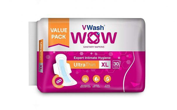 Amazon India : VWash Wow UltraThin Sanitary Napkins - Extra Large (30 Count)
