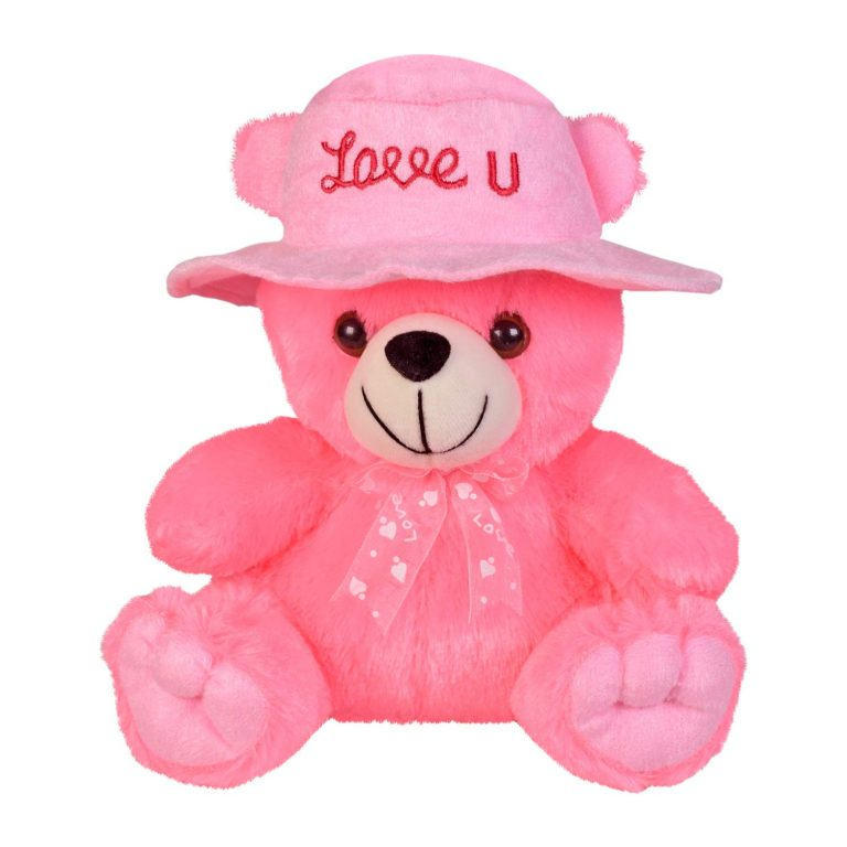 Amazon India : Ultra Cap Teddy with Love You Stuffed Soft Toy Gift, Pink (9-inch)