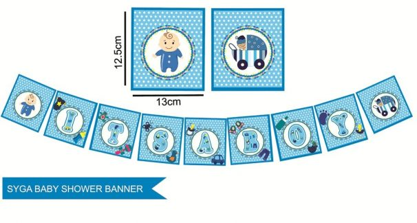 Amazon India : Syga It's A Boy Baby Shower Party Decorative Banner, Blue