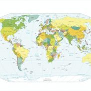 Amazon India : World Map Political Map of The World (60 X 90 cm)