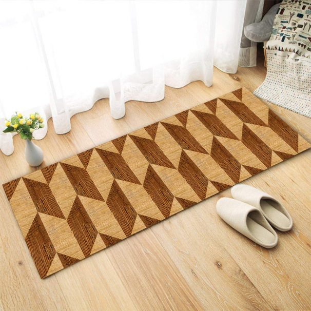 Amazon India : Status Contract 3D Digital Printed Nylon Runner (18 x 55 Inches, Brown)