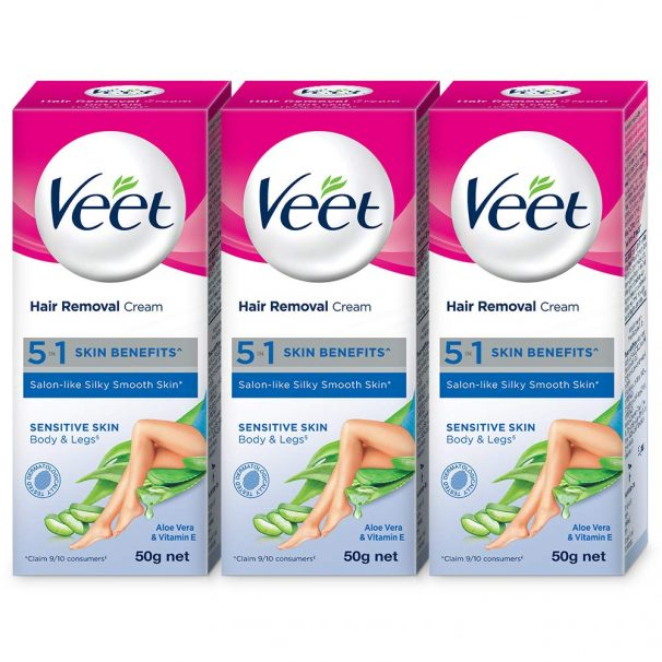 Amazon India : Veet Silk and Fresh Hair Removal Cream, Sensitive Skin - 50g Pack of 3