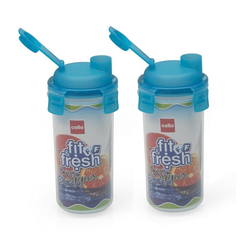 Amazon India : Cello Fit & Fresh R - 450 Sipper Set, 450ml, Set of 2
