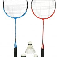 Amazon India : Cockatoo Economy Badminton Set, Pack Of Two Racquet With 3 Shuttle & Cover, Size 27 Inch
