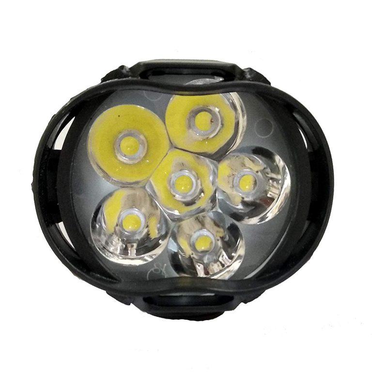 Amazon India : AutoKraftZ Bike Mirror Auxilliary Spot Waterproof Shilon 6 LED Light/Head Light