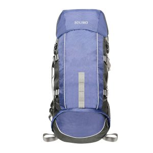Amazon India : Solimo Voyager Rucksack (43 litres, Midnight Blue & Grey)