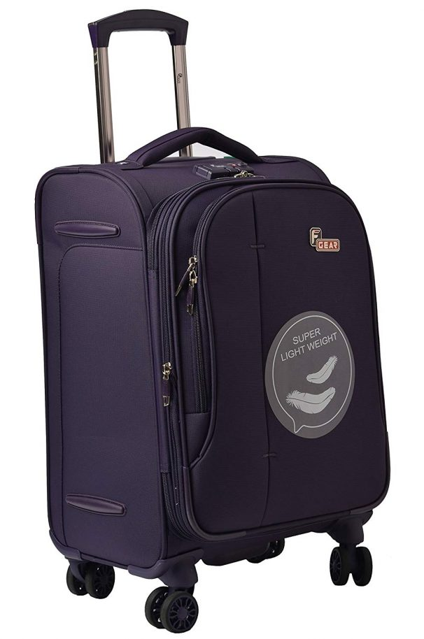 Amazon India : F Gear Aspire Polyester 54 cms Purple Softsided Cabin Luggage